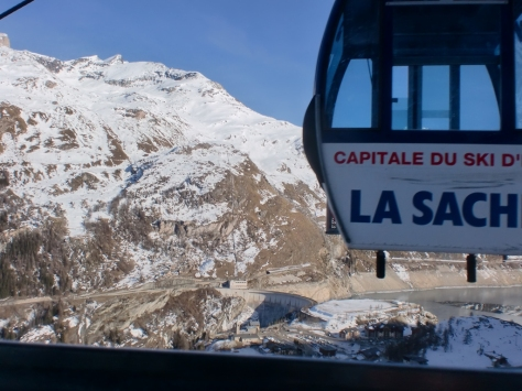Tignes ski lift gondola