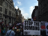 Stop Bombing Protest