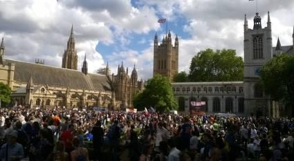Parliament Square EU March