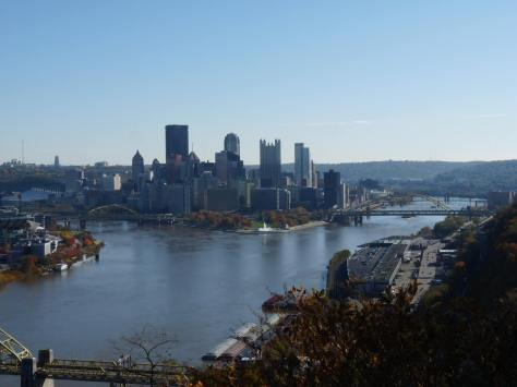 Central Pittsburgh Skyline View