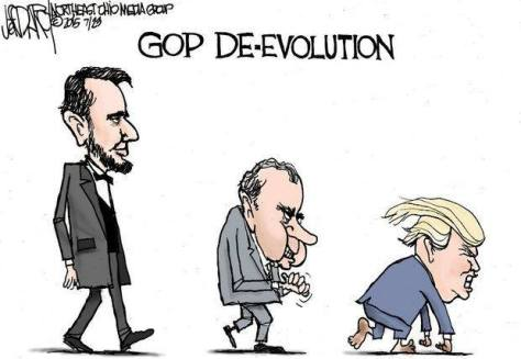 De-evolution of US Presidents Cartoon