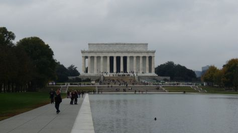 lincoln memorial and lake Washington DC