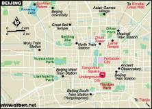 Small Simple City Map Beijing