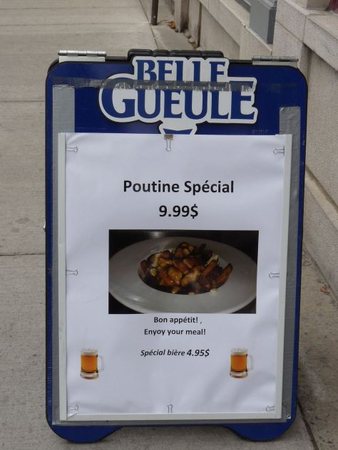 Poutine Special Sign Quebec City